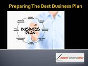 Preparing The Best Business Plan