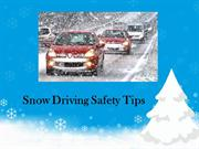 Snow Driving Safety Tips
