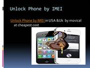 Unlock phone by IMEI