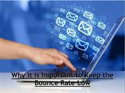 Why it is Important to Keep the Bounce Rate Low