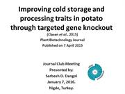 Improving cold storage and processing traits in potato
