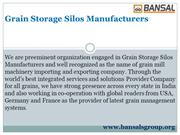 Grain Storage Silos Manufacturers