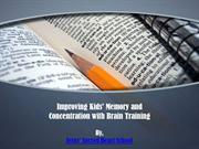 Improving Kids' Memory and Concentration with Brain Training