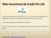 Personal Loan Singapore  - Elite Investment & Credit Pte Ltd