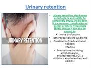 Easy way to solve your Urinary retention