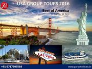 Best America Group Tours, America Holiday Packages 2016