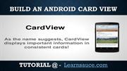 Build Apps on Android card view