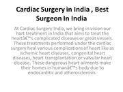 Cardiac Surgery in India , Best Surgeon In India