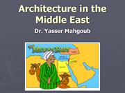 Architecture in the Middle East