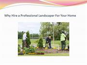 Why Hire a Professional Landscaper For Your Home