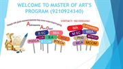 MA Distance learning Programs @ 9210924340