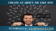create an About.me like site