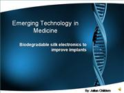 Emerging Technology in Medicine