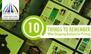 10 Things to Remember When Designing Brochures