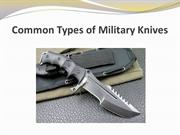 Common Types of Military Knives