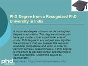 Distance Learning Admission in PhD Education+91- 7533-00-7534