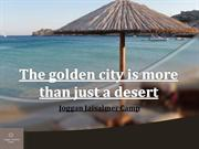 The golden city is more than just a desert
