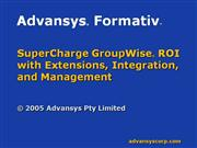 advansys-formativ-overview