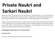 Private Naukri and Sarkari Naukri
