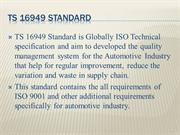 TS 16949 Standard Certification