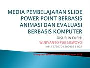 MEDIA PEMBELAJARAN SLIDE POWER POINT BERBASIS__