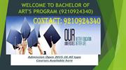 BA Education through Distance Learning in Noida @ 9210924340