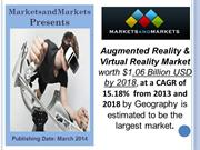 Augmented Reality and Virtual Reality Market $1.06 Billion by 2018