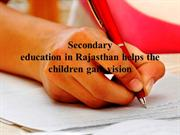 Managment in Secondary education in Rajasthan