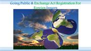 Going Public & Exchange Act Registration For Foreign Issuers