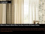Buy Curtains And Drapes Online, Curtains For Home