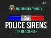 Police Car Sirens - Major Police Supply