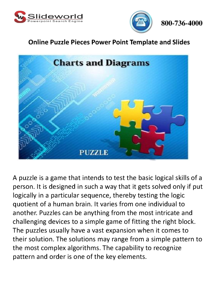Online Puzzle Pieces Powerpoint Template And Slides Authorstream
