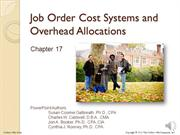 #17.1 -- Cost Accounting and Job Order Costing (10.40)