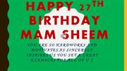 mam sheem's birthday