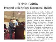 Kelvin Griffin - Principal with Refined Educational Beliefs