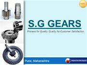 Gear boxes and precision machined components Manufacturer - S. G. Gear