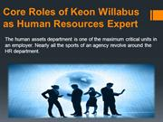 HR Manager Keon Willabus