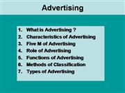 advertising role