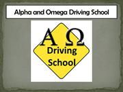 Alpha and Omega Driving School Presentation -Oct19