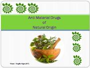 Anti Malarial Drugs