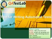 Tool for Writing Automated Tests