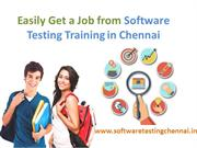 Easily Get a Job from Software Testing Training in Chennai