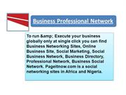 Business professional network