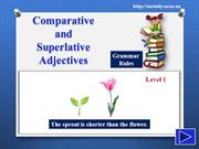 Comparative and Superlative Adjectives - Level One