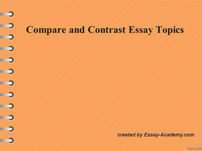 Topic sentence to compare and contrast essay