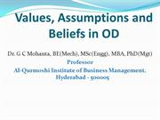 Values, Assumptions and Beliefs in Organization Development (OD)
