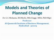 Models & Theories of Planned Change in OD