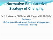 Normative-Re-educative Strategy of Changing in OD