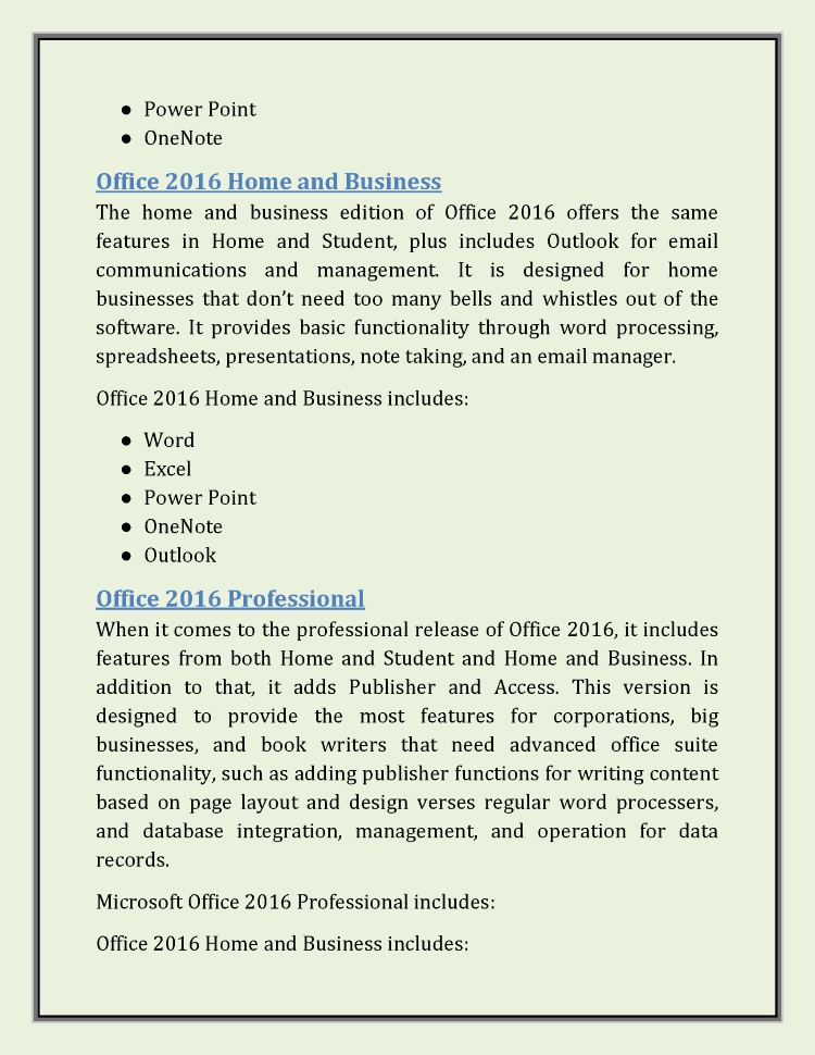 What is the difference between microsoft office professional plus