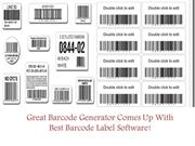 Great Barcode Generator Comes Up With Best Barcode Label Software!